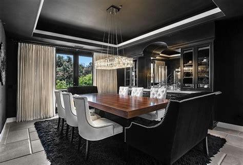 magnifiques salles  manger decorees en noir bricobistro