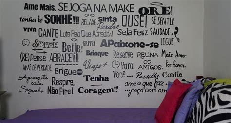adesivo de frases para parede diy