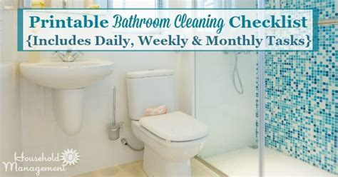 Bathroom Cleaning Checklist   List For Cleaning The
