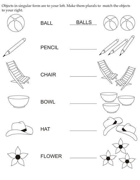 And Plural Worksheets For Kindergarten Popflyboys And Best Free Printable Worksheets