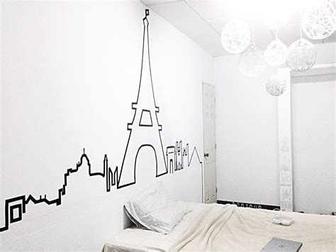 Washi Tape Paris Skyline Made With Electrical Tape Diy