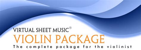 Virtual Sheet Music Violin Package