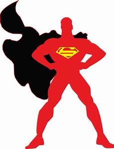 Cute Silhoutte Superman Clipart - Clipart Suggest