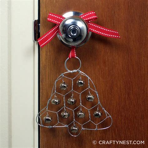 chicken wire ornaments chicken wire jingle bell ornament crafty nest