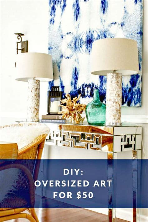 cheap  easy diy large scale wall art projects