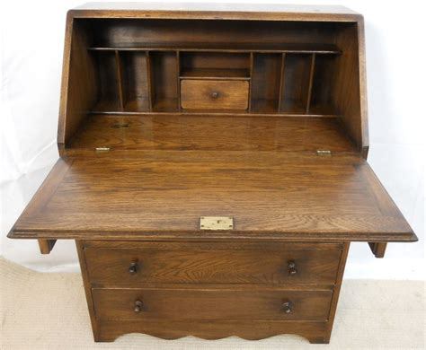 oak writing bureau desk by reprodux sold