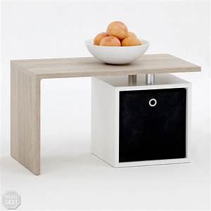 Beistelltisch Weiß Eiche : couchtisch klara tisch beistelltisch in sonoma eiche s gerau wei ebay ~ Indierocktalk.com Haus und Dekorationen