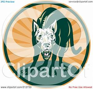 Royalty-Free (RF) Clipart Illustration of a Mean Dog Logo ...