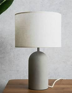 Large Concrete Table Lamp Rose & Grey