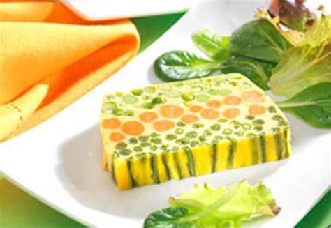 cuisine petit pois terrine aux trois légumes légère recette légère plat
