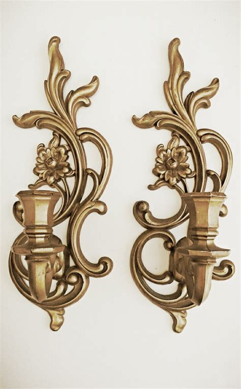 vintage candle wall sconces vintage gold wall sconces hanging candle by hingemodernvintage