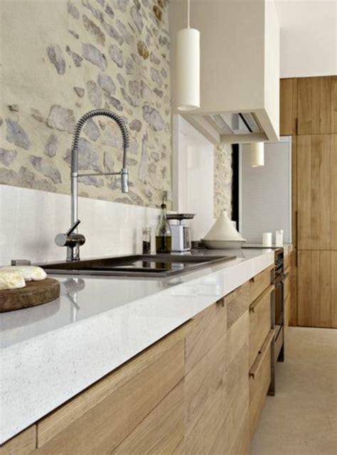 cuisine moderne blanc et bois 53 variantes pour les cuisines blanches