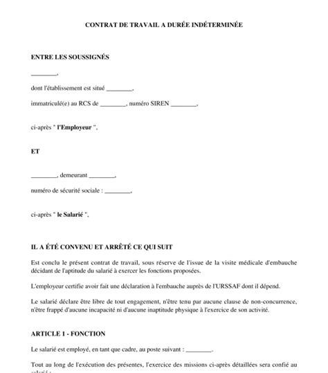 Modification Contrat De Travail Vrp by Contrat De Travail Pour Un Commercial Cdi Cdd