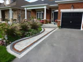 front driveway ideas front entrance landscaping front yard landscaping interlocking brick