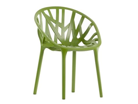 chaise bouroullec stackable plastic chair vegetal by vitra design ronan