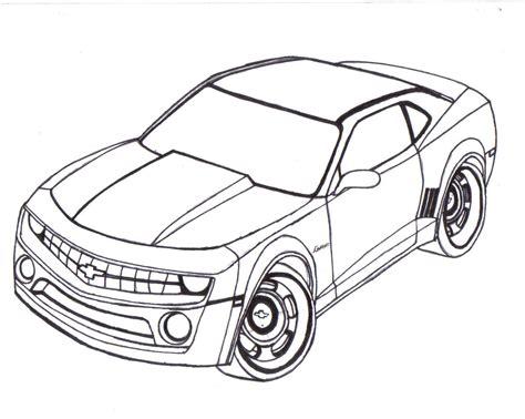 Chevy Camaro Line Art By Mister-lou On Deviantart