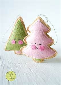 pdf pattern merry little trees sewing pattern christmas ornament pattern holidays kawaii