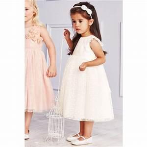 Robe De Demoiselle D Honneur Fille : robe de demoiselle d 39 honneur petite fille next creme vue ~ Mglfilm.com Idées de Décoration