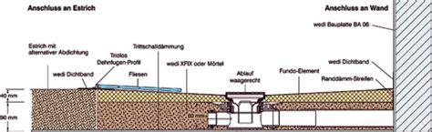 Begehbare Dusche Gefälle by Bodenaufbau Ebenerdige Dusche K 252 Che Bad Sanit 228 R