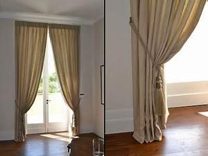 Embrasse Pour Rideaux : double rideaux lin taupe ~ Teatrodelosmanantiales.com Idées de Décoration