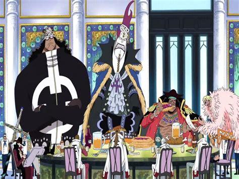 Five Of The Shichibukai In A Meeting Wallpaper