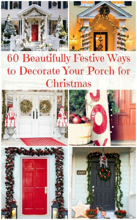 60 beautiful ways to decorate your porch for christmas