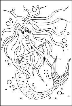 Malbild Meerjungfrau - Nixe | Malvorlagen, Malbilder und