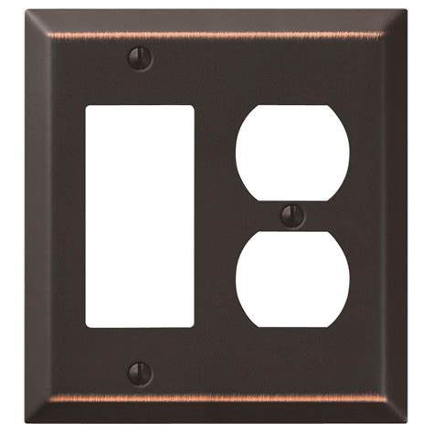 amerelle leaf 2 toggle wall plate aged hton bay steps 1 toggle 1 duplex wall plate aged