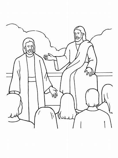 Premortal Lds Christ Coloring Heavenly Primary Jesus