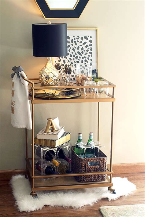 beloved gold target wine themed bar cart revealed