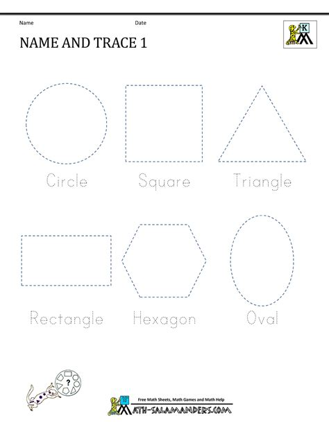 pre k tracing shapes worksheets free preschool shape