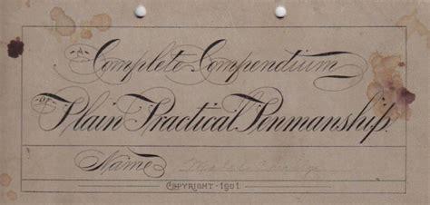A Complete Compendium Of Plain Practical Penmanship  Iampeth Site