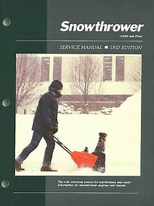 Snowthrower Service And Repair Manual 1990 And Prior