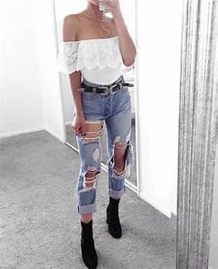 Best 25+ Distressed jeans ideas on Pinterest | Ripped jeans Distressed jeans outfit and Ripped ...