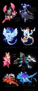 A bunch of Pokemon Fusions by cat-meff on DeviantArt
