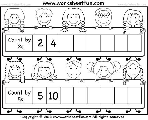 unique skip counting worksheets first grade fun worksheet