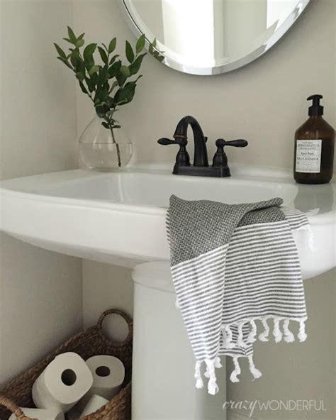 simple bathroom decorating ideas pictures wonderful powder room decor simple bathroom design ideas pedestal sink towels