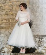 Vintage Tea Length Garden Wedding Dresses 2016 Heart ...