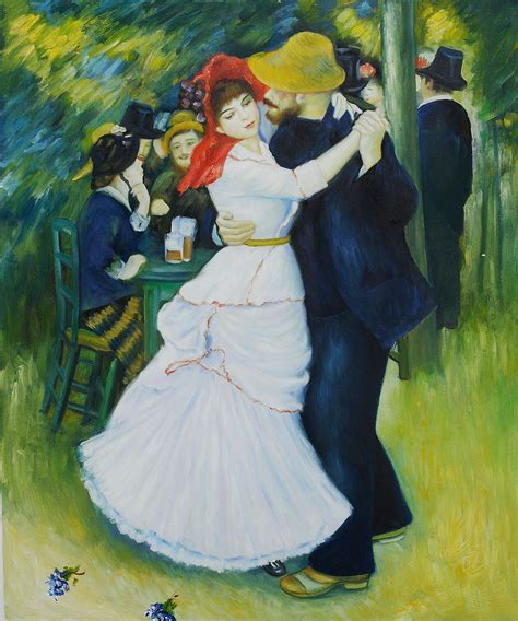 Dance At Bougival By Pierre Auguste Renoir For Sale