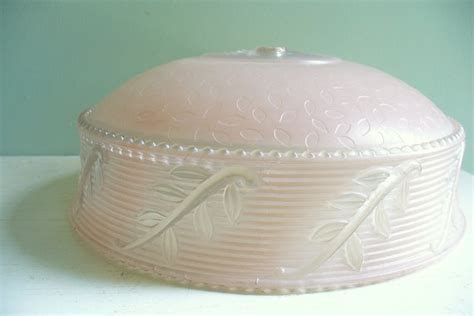 Glass Light Covers by Vintage Light Cover Pink Glass Shade Ceiling Light Pink
