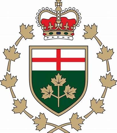 Governor Symbols Lieutenant Emblem Ontario Canadian Division