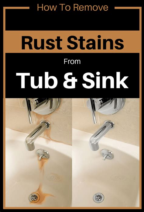 remove rust stains  tub  sink
