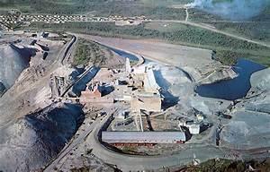Thetford Mines  Quebec Asbestos Mine Aerial View