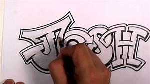 Graffiti Writing Josh Name Design - #3 in 50 Names ...