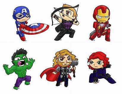 Avengers Marvel Cartoon Clipart Characters Clip Chibi
