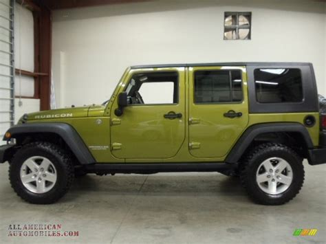 jeep unlimited green 2007 jeep wrangler unlimited rubicon 4x4 in rescue green
