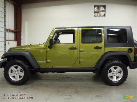 green jeep rubicon unlimited 2007 jeep wrangler unlimited rubicon 4x4 in rescue green