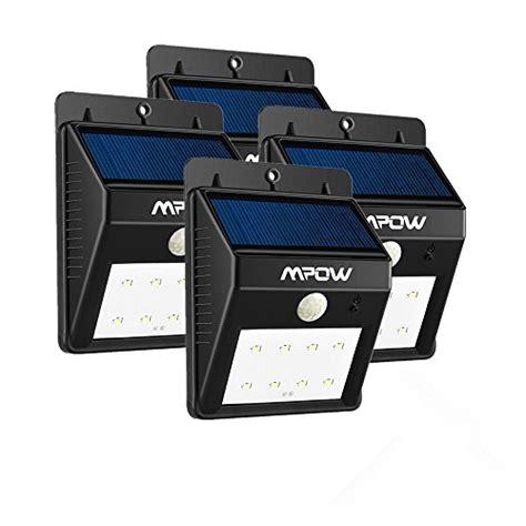 4 pack 8 led eclairage exterieur imperm 233 able mpow eclairage terrasse sans fil d 233 tecteur de