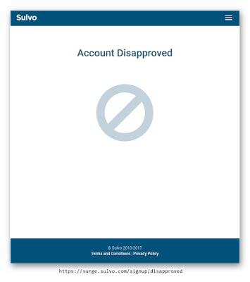 sulvo account disapproved  images accounting