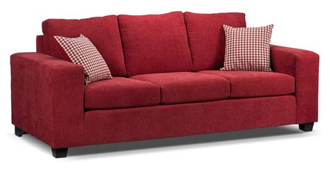 red sofa couch fava sofa s